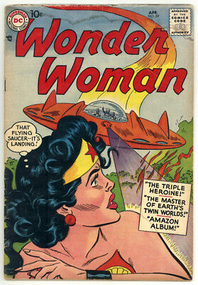 Wonder Woman #89 Vg 4.0 Flying Saucer Cover. 1957 Rare Book!