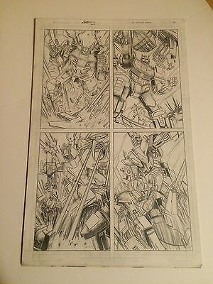 TRANSFORMERS ANNUAL original art ULTRA MAGNUS BATTLE PAGE, DETAIL, AWESOME