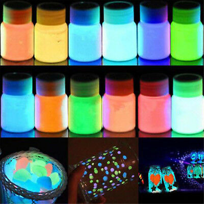Glow in the Dark Acrylic Luminous Paint Bright Pigment Party DIY Decoration NT