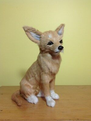 CHIHUAHUA PUPPY DOG lifelike FURRY ANIMAL Toy REPLICA d571br FREE SHIPPING USA