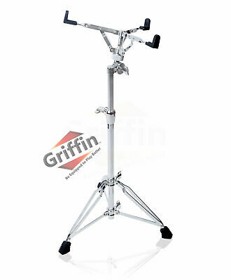 Extended Height Snare Drum Stand - Griffin Tall Concert Stand Up Mount Holder