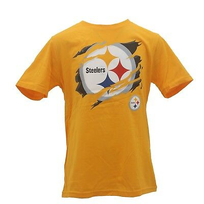 6111d25df1b4f Pittsburgh Steelers Kids Youth Size Team NFL Apparel Official T-Shirt New W  Tags