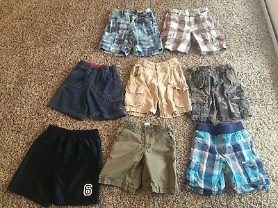 Lot of 8 Toddler Boys Size 4T Shorts - Gymboree, Old Navy, Janie and Jack