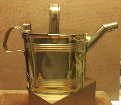 Victorian Antique Brass Hot Water Can Pitcher England