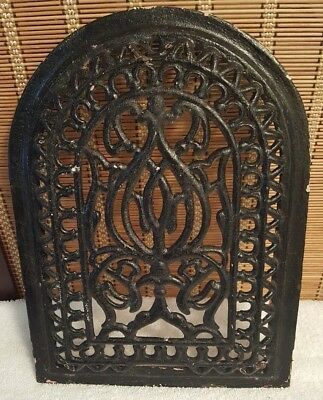 Antique Cast Iron Arch Top Dome Heat Grate Wall Register  13 1/2 x 10 inches