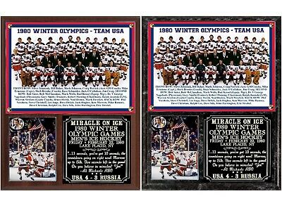 1980 Miracle On Ice USA Olympic Hockey Photo Plaque