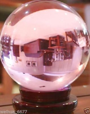 150MM Huge Asian Rare Natural Quartz Pink Magic Crystal Healing Ball + Stand@