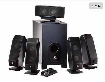 Logitech X-540 5.1 Surround Sound Speaker System, Pre-owned in open box