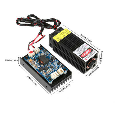 450nm 15W Blu-ray Laser Module with TTL/PWM For Wood Cutter Engraver Machine TP