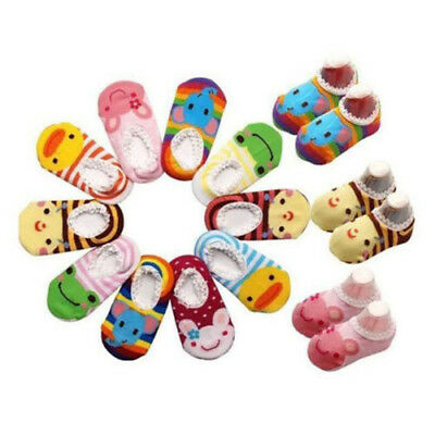 Unisex Baby Kids Toddler Boy Girl Cute Anti Slip Skid Grip Socks Shoes Slipper