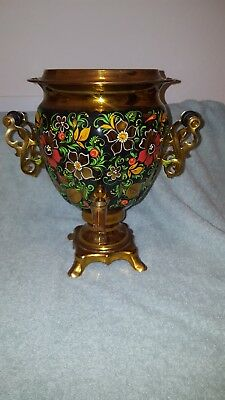 Vintage 1998 Russian Hand-Painted Electric Samovar Soviet Era