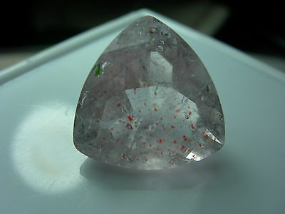 13.11ct Lepidocrocite Quartz gem Faceted Madagascar Strawberry Confetti tril P03
