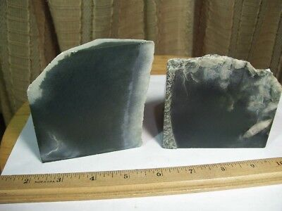 Wyoming Olive Jade Rough, 2 lb. 10 oz., 2 pieces