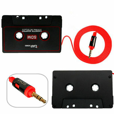 Cassette Car Stereo Tape Adapter for iPod iPhone MP3/P4 AUX CD Player 3.5mm T7