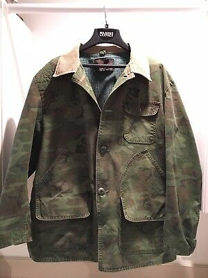 Vintage '60's SEARS Ted Williams Hunting Camouflage Jacket w/Small Game Pouch XL