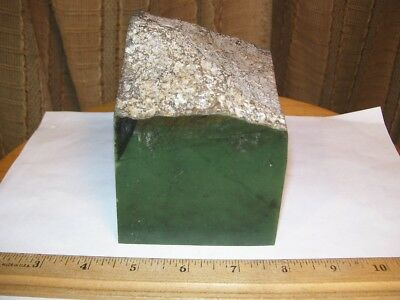 Wyoming Apple Green Jade Rough, 3 lbs.  7 oz.