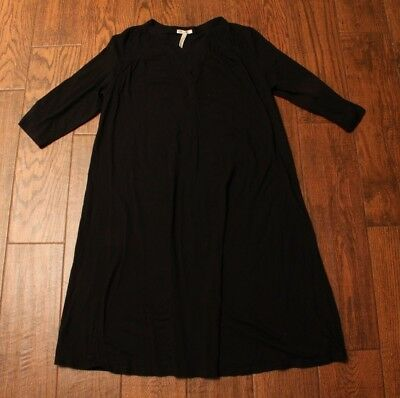 OLD NAVY MATERNITY Solid Black Night Gown Size Large L