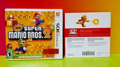 New Super Mario Bros. 2 - Nintendo 3DS Case, Cover Art, Insert Ad ONLY *NO GAME*