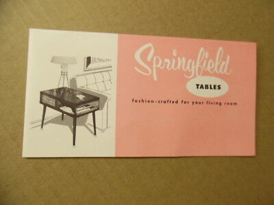 1955 Springfield Furniture Works Occasional Table Catalog Eames Era Mid-Century