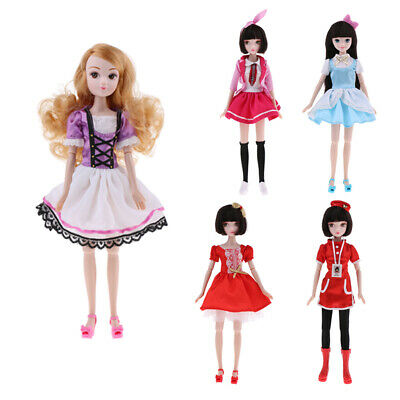 28cm/11'' Vinyl Costume Body Kurhn Doll Action Figure Flexible 10 Joints BJD Toy