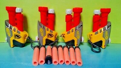Nerf Gun lot of 4 Guns - S. S. AS-1 Tested Work Great ! Key Chains with Darts !