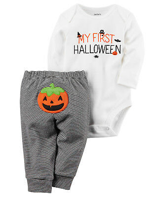 NWT Carter's My First Halloween Bodysuit Pants Outfit Set Baby Boy Girl Unisex