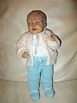 antique doll Minerva Puppenjunge ca. 1920 old german Minerva boy doll
