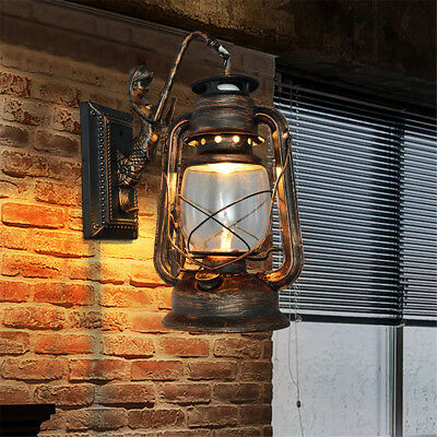 AU! Retro Vintage Industrial Rustic Brass Porch Wall Fixture Lamp E27 Wall Light