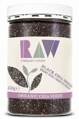 Raw Health | Organic Black Chia Seeds - Omega Rich 450g