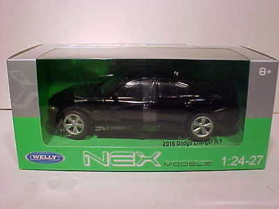 2016 Dodge Charger RT Die-cast 1:24 by Welly 8 inch Black 24079
