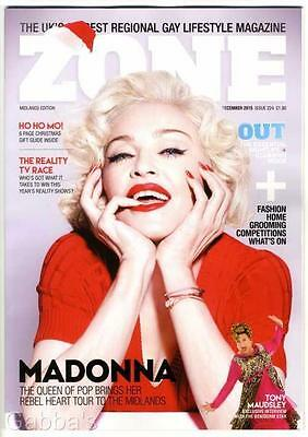Madonna - Midlands Zone Uk  Magazine December 2015 New Rebel Heart Glossy Cover