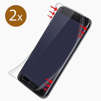 2x Panzer Folie 3D Samsung Galaxy S7 EDGE Display Schutz Folie Full Cover KLAR