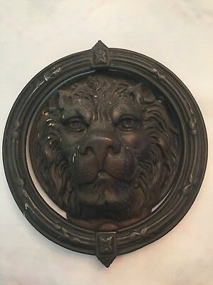 Large Vintage Lion Head Door Knocker