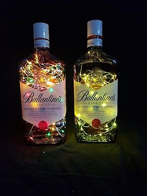 Ballantines - Flaschen Lampe mit 80 LEDs Farbauswahl Upcycling Geschenk