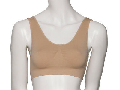 Girls Ladies Nude Seamless Sports Dance Ballet Bra Crop Top By Katz Dancewear