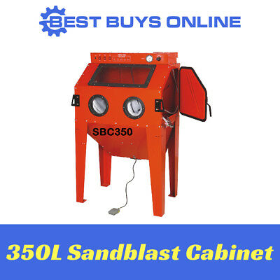 SANDBLAST CABINET 350L Industrial Sandblaster inc. Dust Extraction System