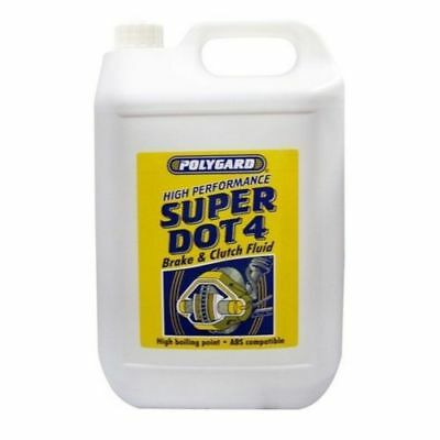 Synthetic Based Car Brake & Clutch Fluid Dot 4 High Boiling Point 5L