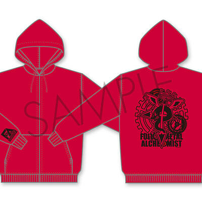 Fullmetal Alchemist Hagaren Red Hoodie L size (for Japanese) Hoody Anime F/S