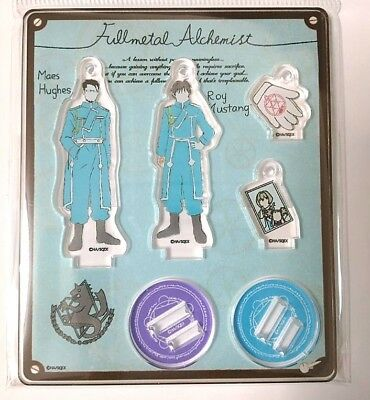 Fullmetal Alchemist Acrylic Mascot Stand Roy Mustang Maes Hughes Sanrio Anime