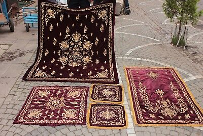 Antique Original Ottoman Gold Plated Sim Decorated Amazing Bed Textile Set