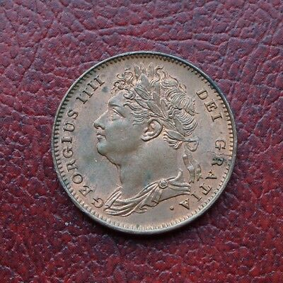 George IV 1826 copper farthing