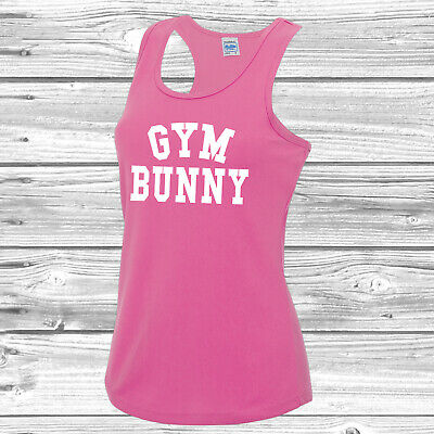 Gym Bunny Girls Vest Tee Top Gym Workout Fitness JC015
