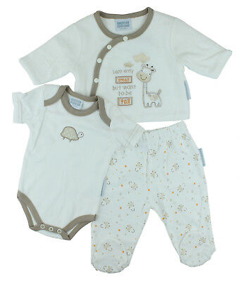 Unisex Tiny Baby Boys Girls 3 Piece Outfit - Giraffe (Tiny Baby - 3 Months)