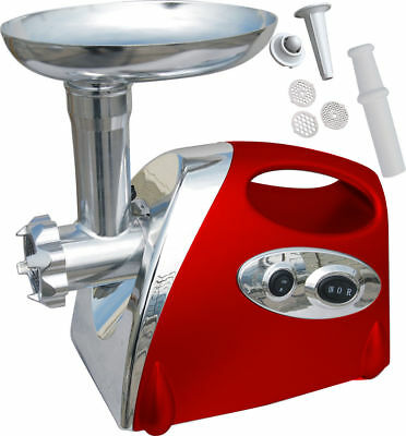 1200W Electric Stainless Steel Meat Grinder Mincer Sausage Maker Red