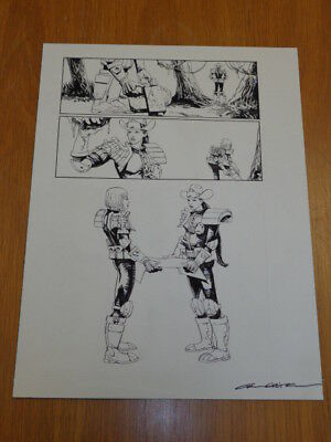 2000Ad Judge Anderson Carl Critchlow Original Comics Art Dredd Signed (K)
