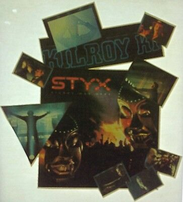 Vintage 80s Styx Kilroy Was Here Iron On Transfer Classic Rock Babe RARE!