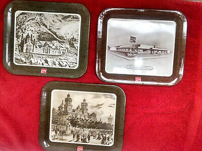 Coca-Cola MEXICAN Tip Trays (3)-All 3 original in good condition. Hard To Find