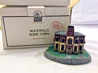 1992 Norman Rockwell Hometown Collection Citizen's Hall Building #A2569