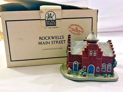 1989 Norman Rockwell Main Street Series The Town Offices Landmark Sculpture