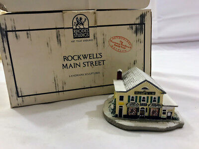1990 Norman Rockwell Main Street Series The Country Store Landmark Sculpture